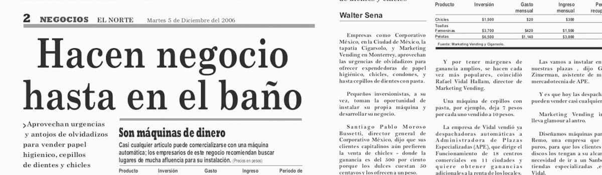 Periódico El Norte 2007